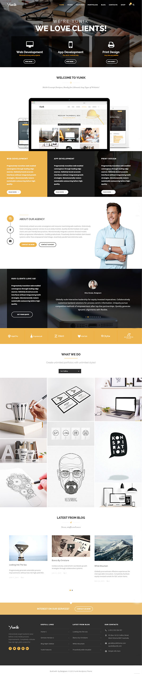 Yunik - Ultimate Multi-Concept WordPress Theme