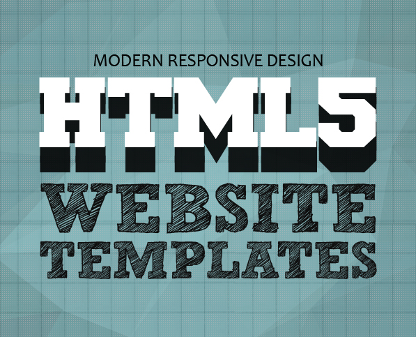 15 Modern Responsive Design HTML5 Website Templates