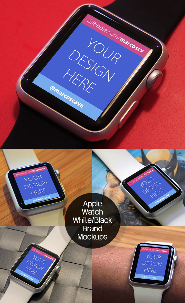 Free Apple Watch Mockups PSD