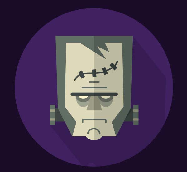 How to Create a Flat Frankenstein in Illustrator