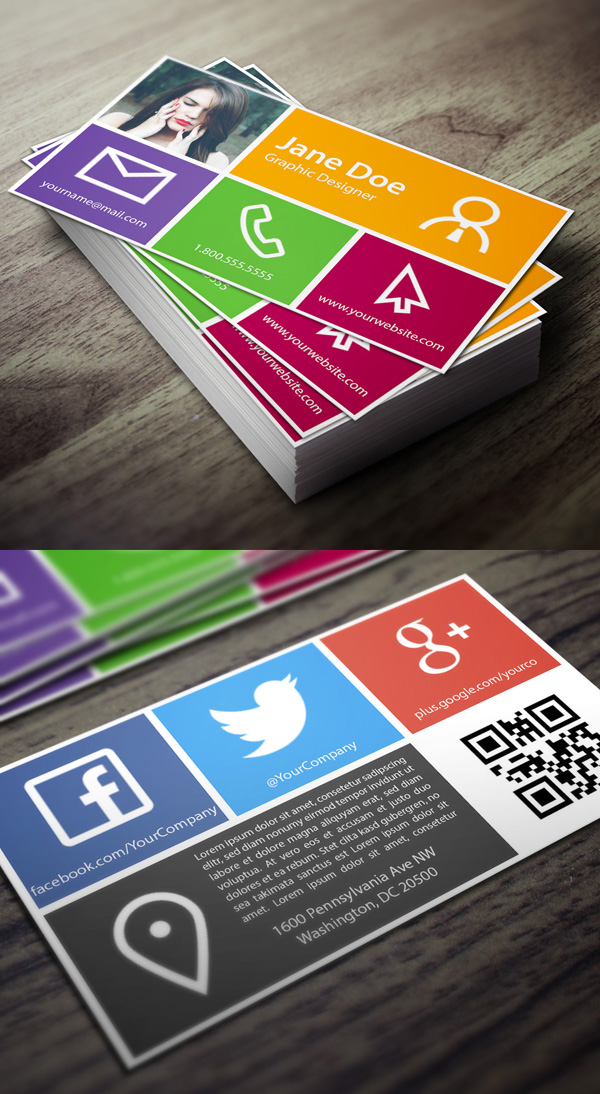 Metro Business Card Template