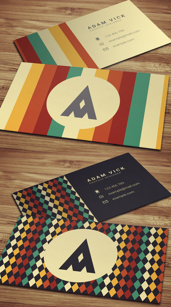 Retro Vintage Business Cards
