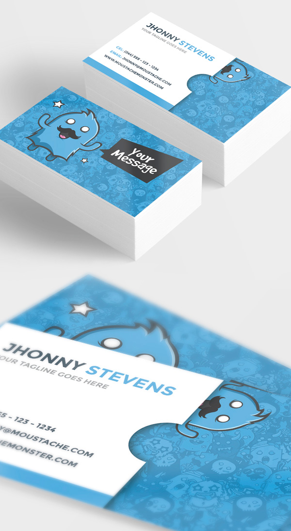 Moustache Monster Business Card