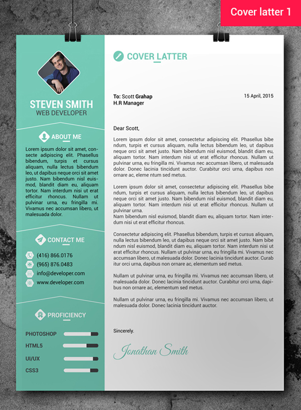free professional resumecv template cover letter - Free Samples Of Cv Resume