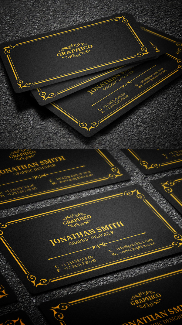 25 new elegant business card psd templates design graphic design elegant vintage business card reheart Images