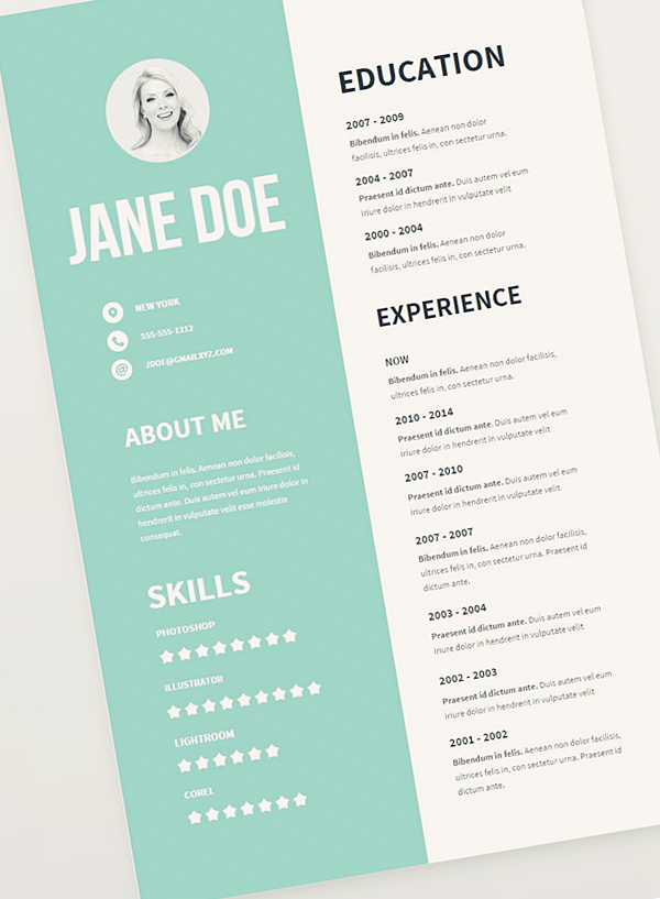 Free cv resume psd templates freebies graphic design for Graphic designer resume template free download