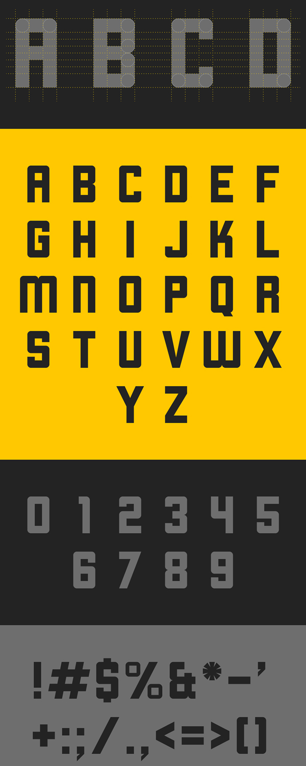 Cornerstone Font Letters and Numbers