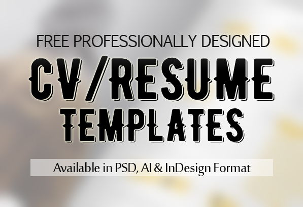 15 Free Professional CV / Resume PSD Templates & Mockups