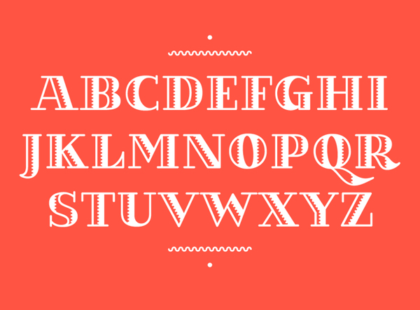 Kilauea Font Letters and Numbers