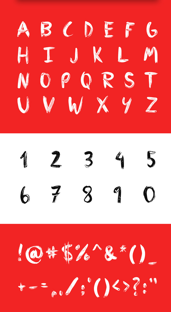 PLUME Font Letters and Numbers