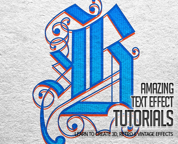 New Photoshop Text Effect Tutorials | Tutorials | Graphic ...