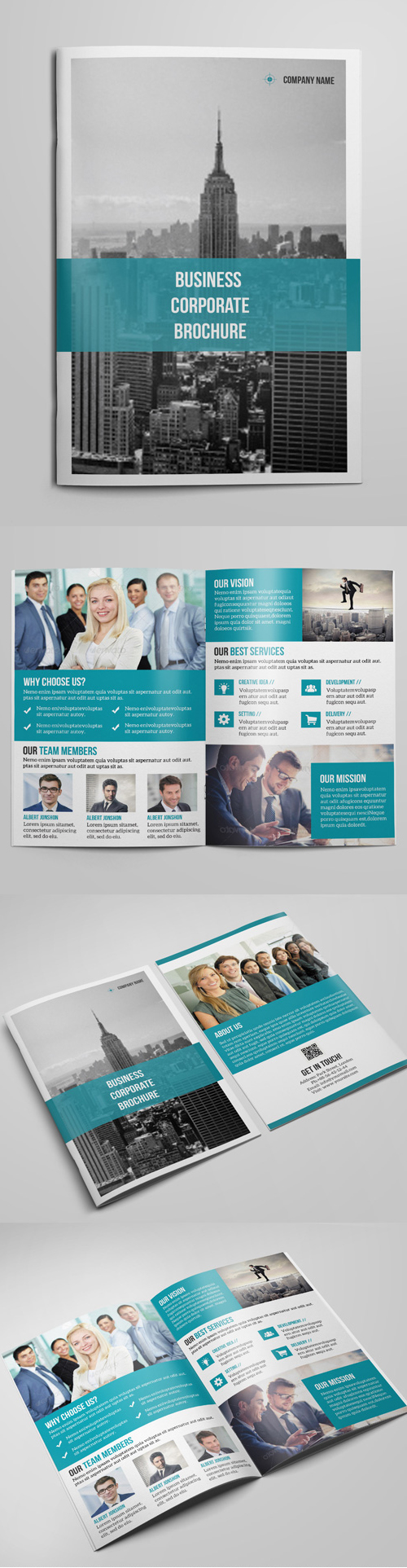 Corporate Bi-Fold Brochure Design