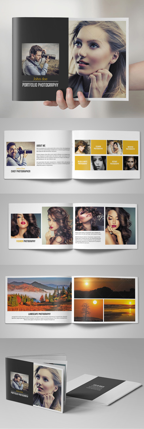 photography portfolio brochure catalog template