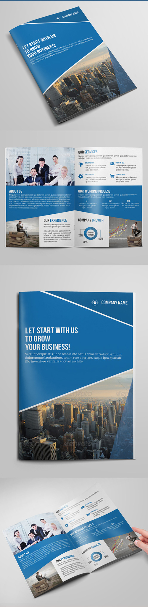 Bi- Fold Business Brochure Template