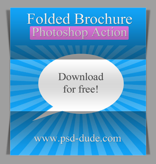 Free Fold Photoshop Action