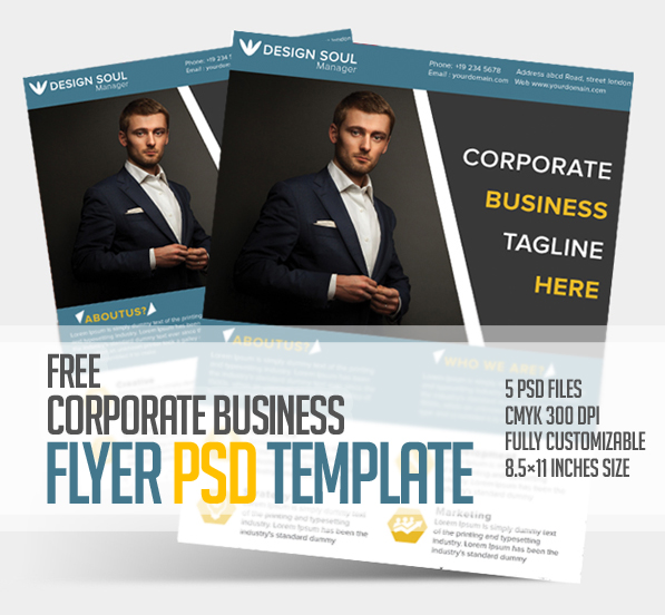 free corporate business flyer psd template freebies graphic design junction