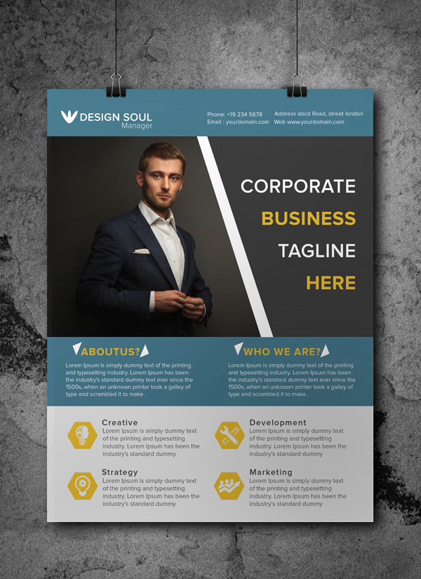 Free Corporate Business Flyer Psd Template  Freebies  Graphic