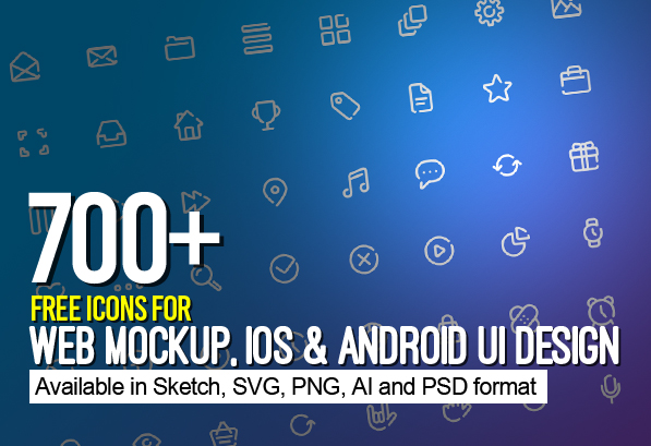 700+ Free Icons for Web, iOS and Android UI Design