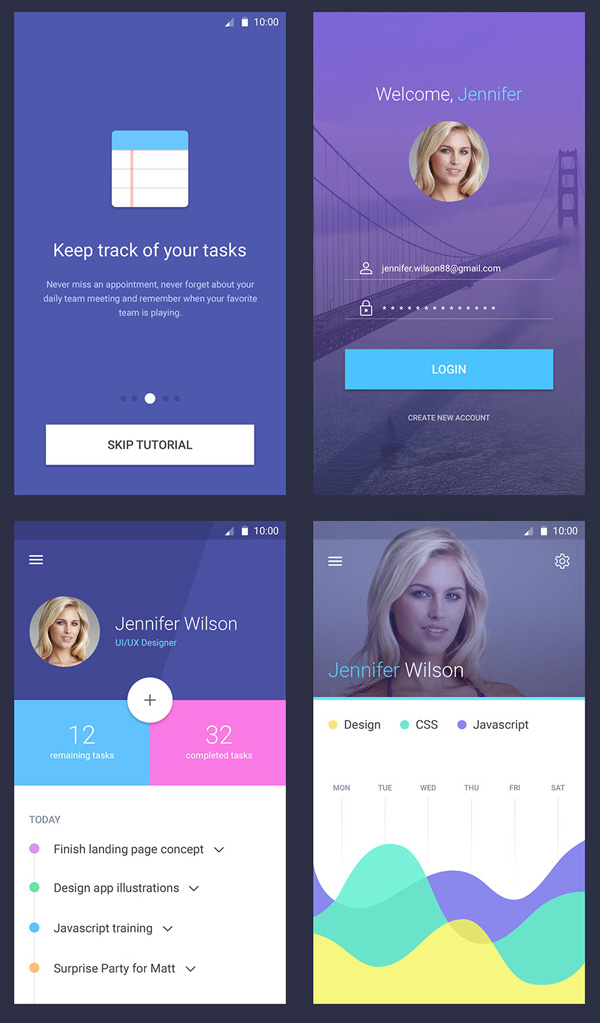 Mobile Material Screens Free PSD Download