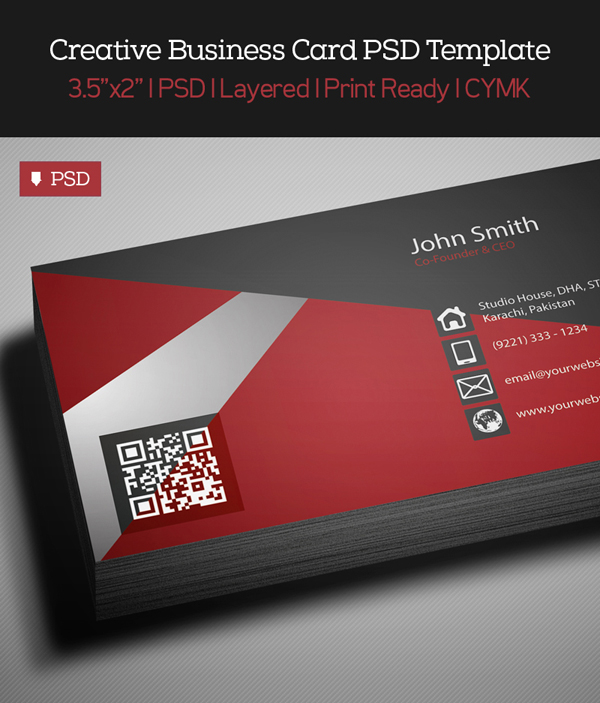 Free creative red business card psd template freebies graphic free creative red business card psd template 1 accmission Image collections