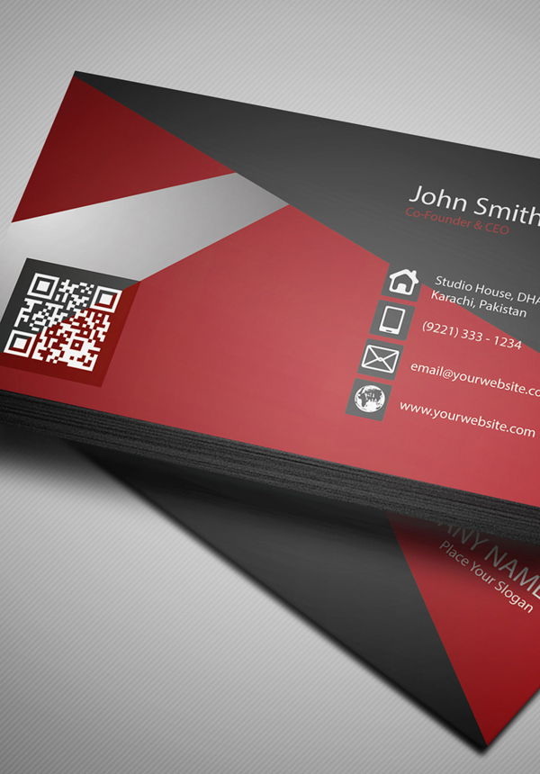 free creative red business card psd template freebies graphic