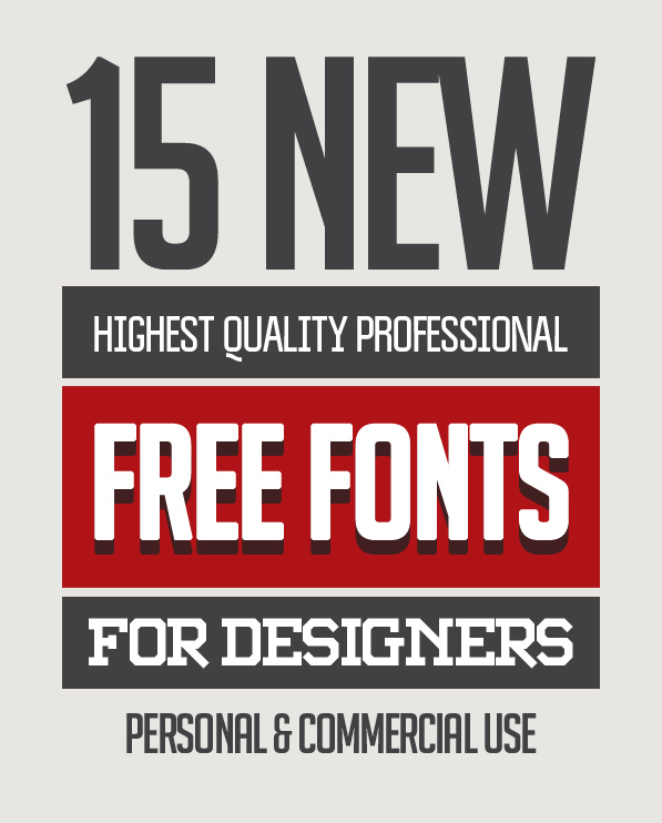 15 Freshest Free Fonts for Designers