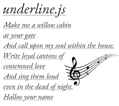 underline.js: Draw and Animate the Text Underline