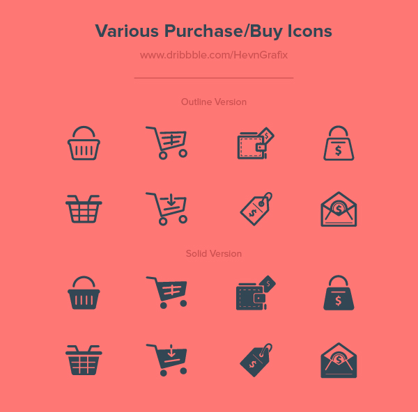 Free Various Purchase/Buy Icons