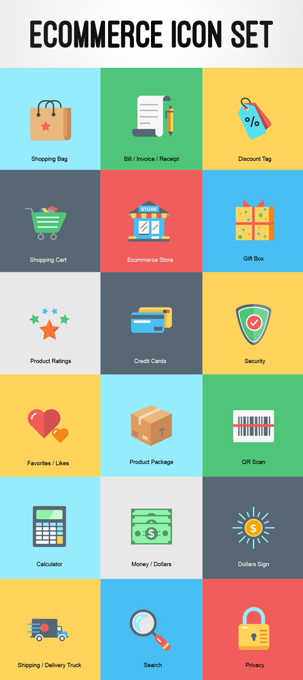 Free Ecommerce Icon Set by Rafi