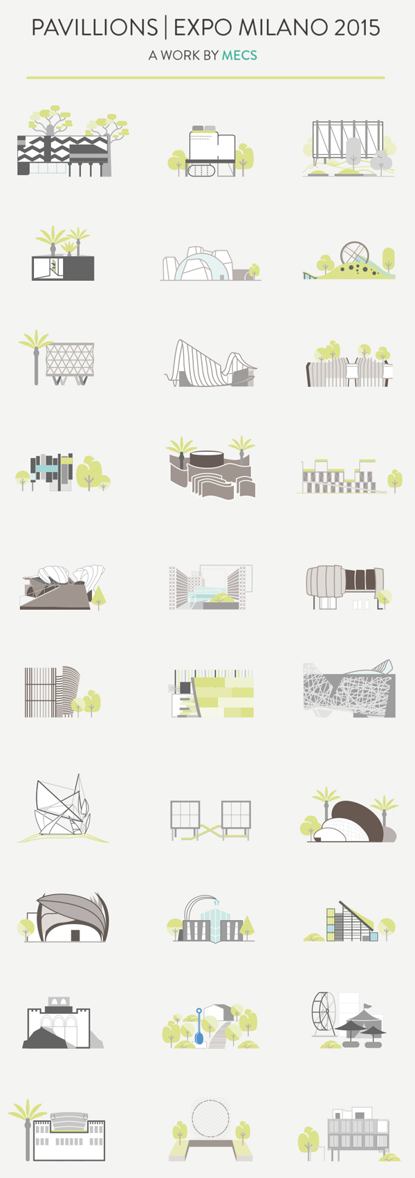 Free EXPO 2015 Pavillions Icons Pack