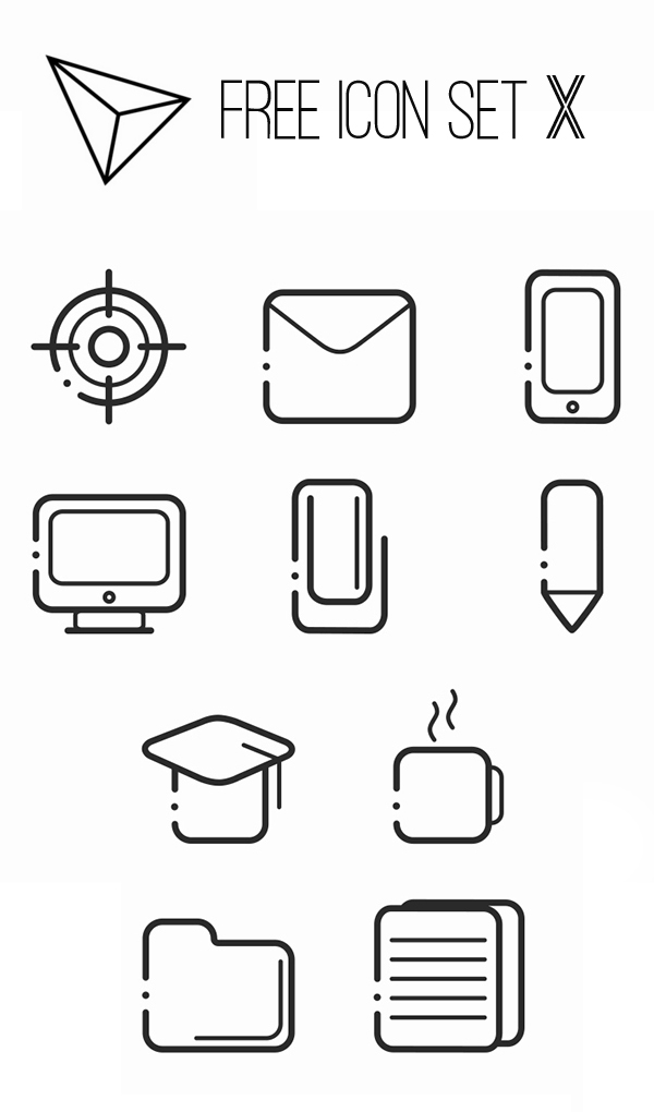 Free Icon Set X by Yasmin de Lima