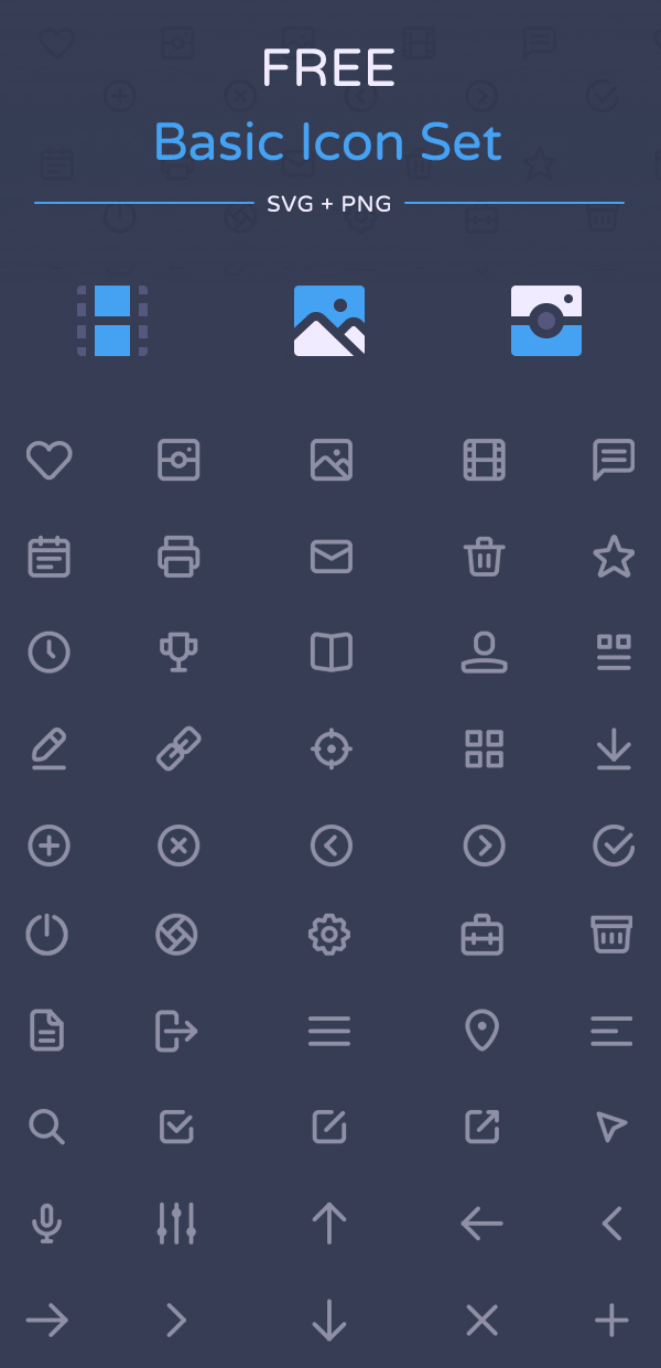 Free Basic Icon Set by Dmitriy Ivanov