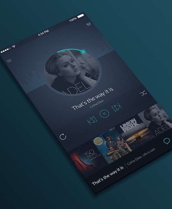Free PSD IOS Music Player UI