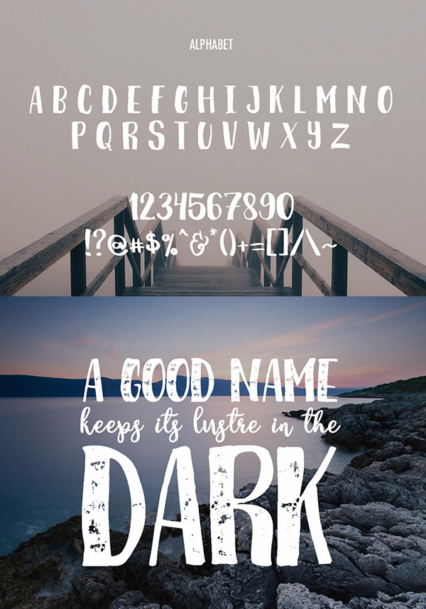 Breathe Font Letters and Numbers