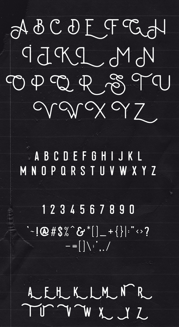 Koebis Font Letters and Numbers