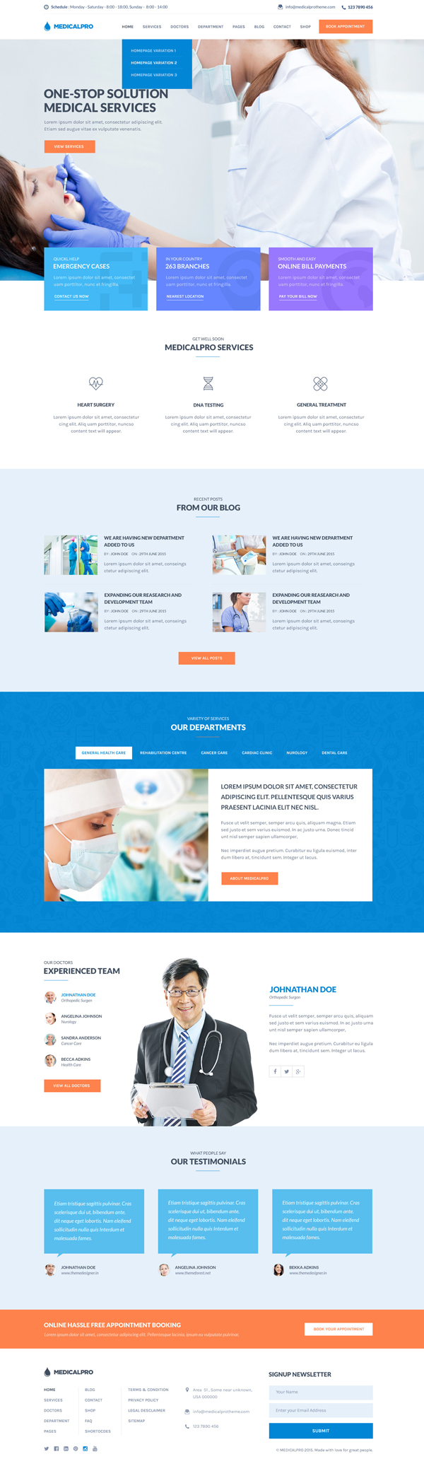 MedicalPro - Health and Medical WordPress Theme