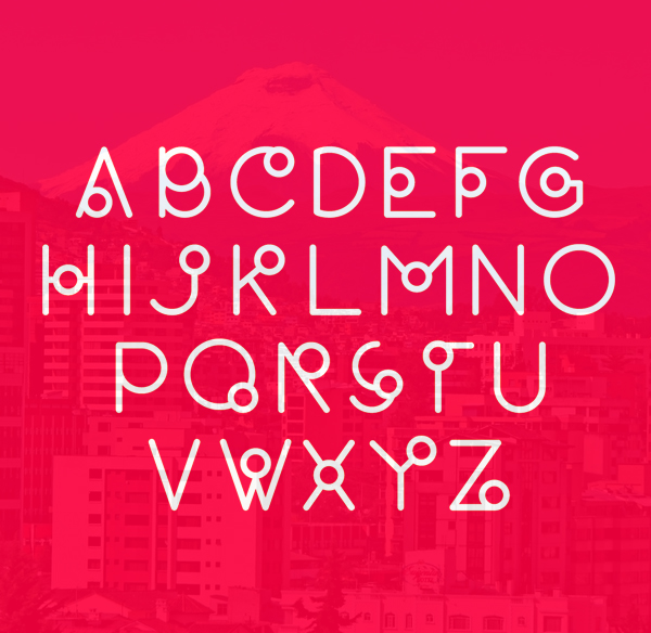 Quito Font Letters and Numbers