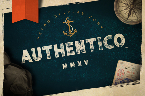 Authentico Display Font was inspired by vintage poster typography