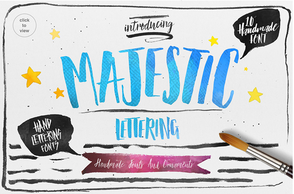 The Majestic Handlettering Kit (10 Fonts)