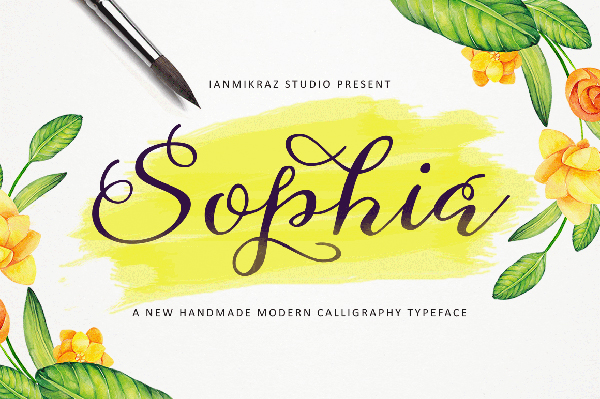 Sophia is a stunning font