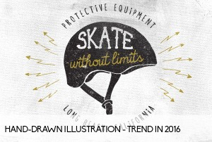 Hand-Drawn Illustration - trend in 2016