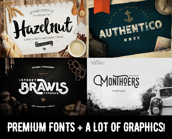 25 Premium Fonts & Graphics for Designers