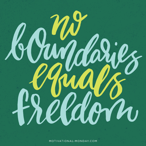 No Boundaries Equals Freedom by Eliza Cerdeiros