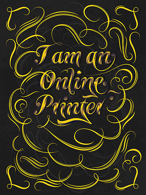 I'm A Online Printer by Noem9 Studio