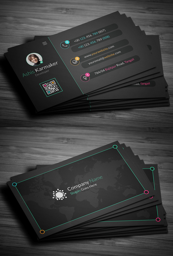 Creative Dark Business Card Design