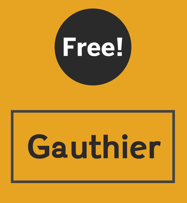 Gauthier Free Font