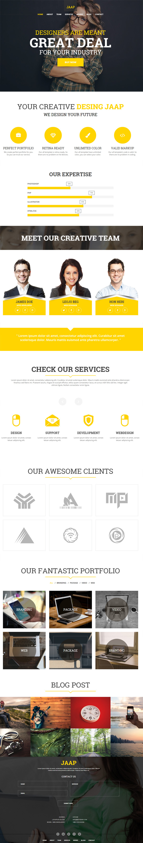 Jaap - Creative MultiPurpose WordPress Theme