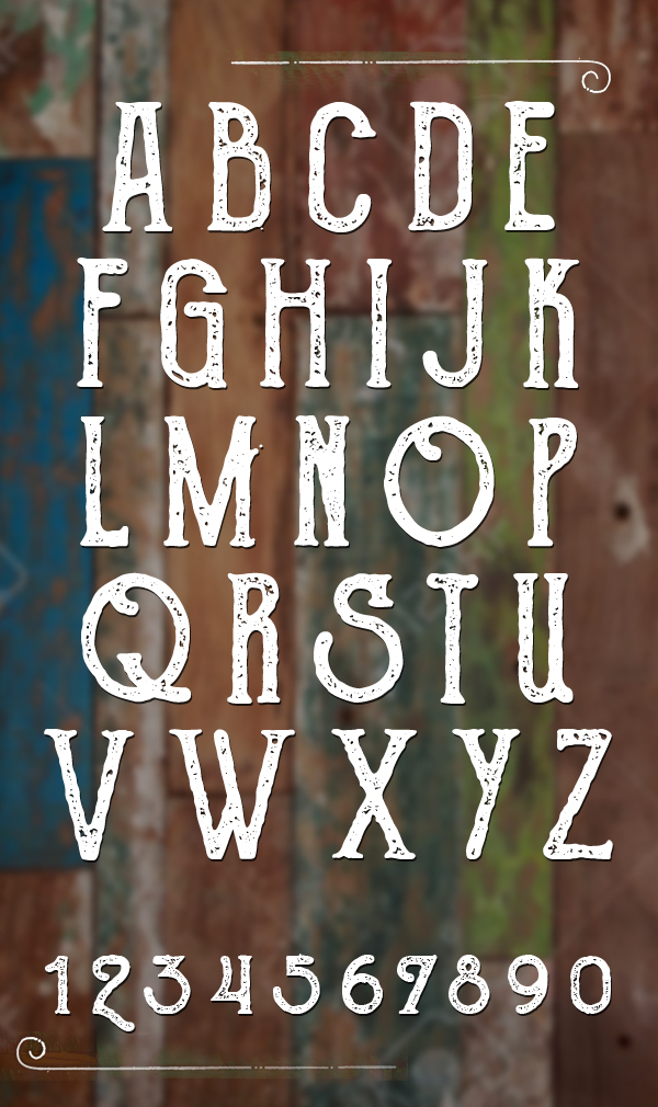 The Goldsmith Vintage Font Letters