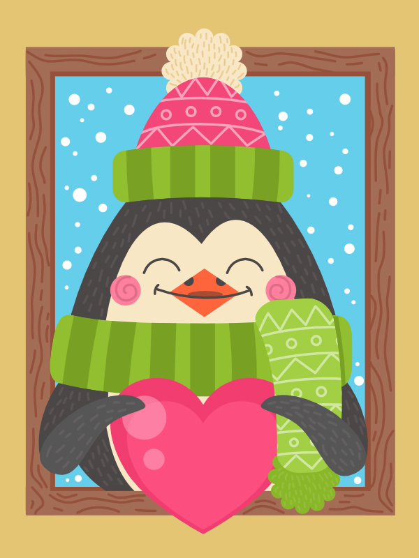 How to Create a Cartoon Penguin Winter Illustration in Affinity Designer