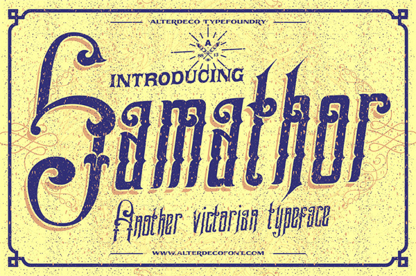 Samathor is a victorian vintage style typeface